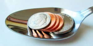 pennies spoon